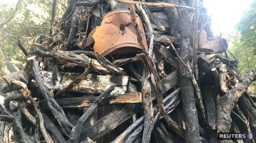 Austrália, stromček, požiare