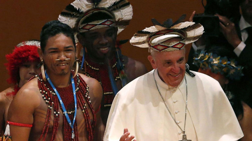 Pápež František, Brazília, domorodci