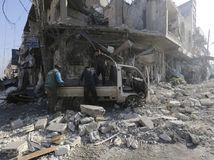 sýria, idlib, výbuch