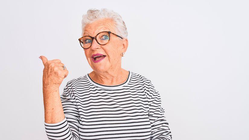 dôchodkyňa, ukazovanie