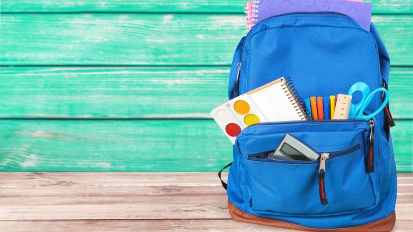 školská taška, aktovka, školské potreby