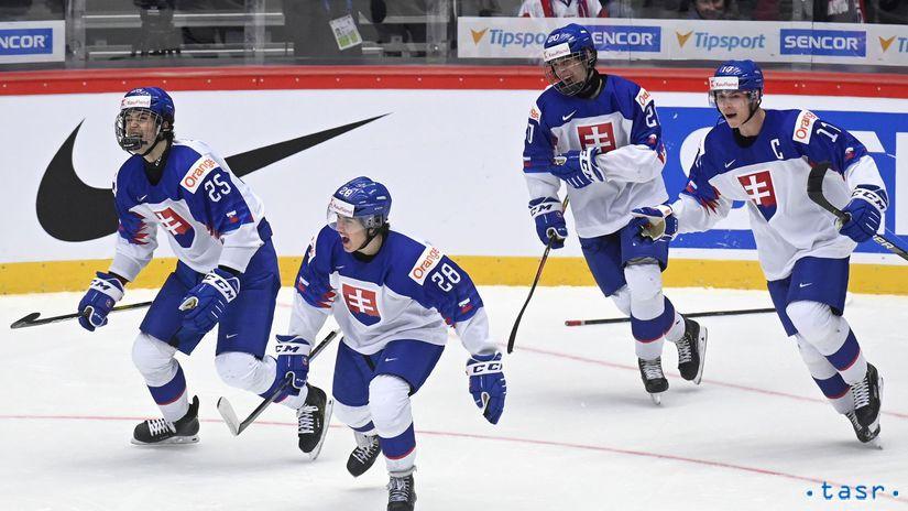 Slovenskí hokejisti do 20 rokov.