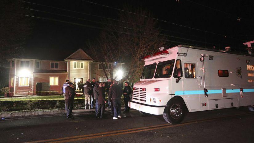 new york útok rabín židia polícia police USA
