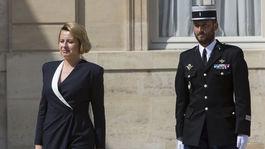 Prezidentka Slovenskej republiky Zuzana Čaputová počas návštevy francúzskeho prezidenta.