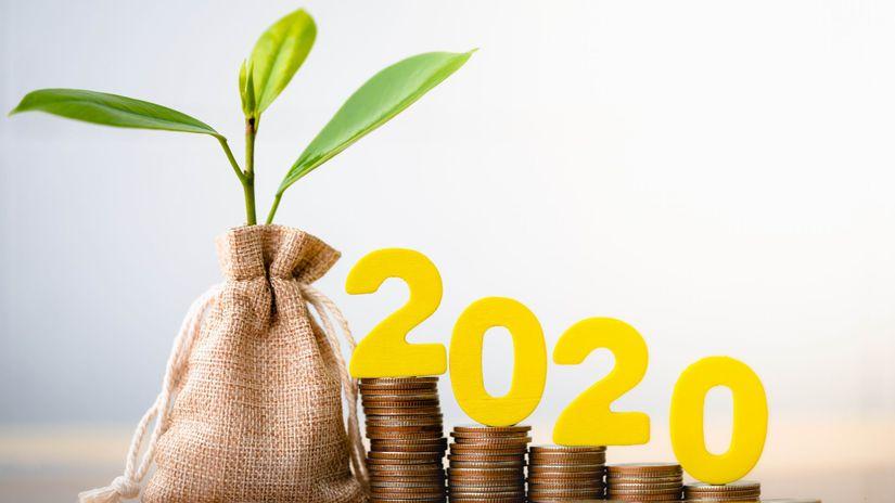 2020, rastlina, mince, vrece