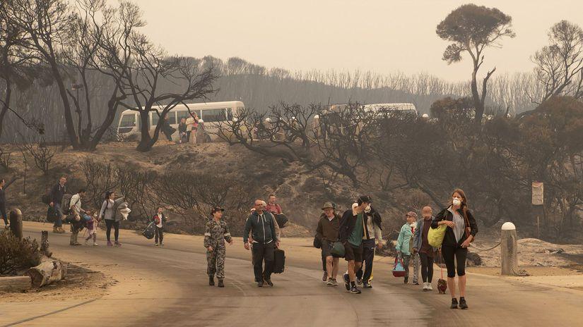 austrália evakuácia požiar