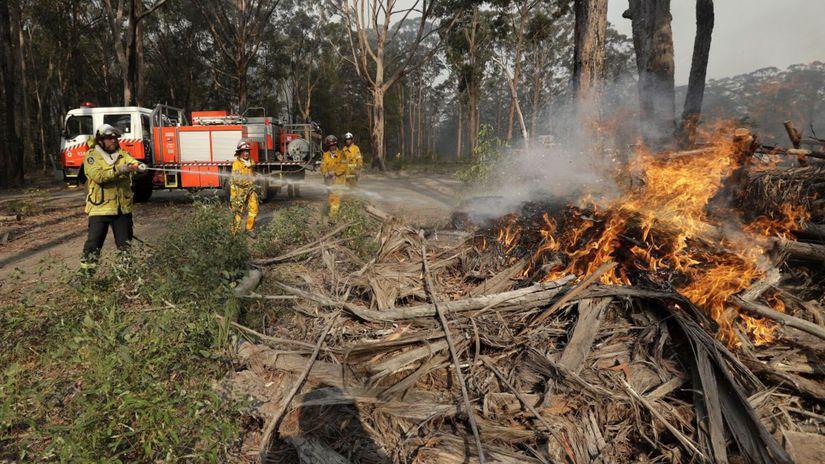 Austrália požiar hasiči