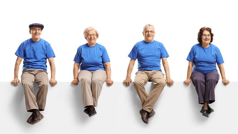 dôchodcovia, sedenie