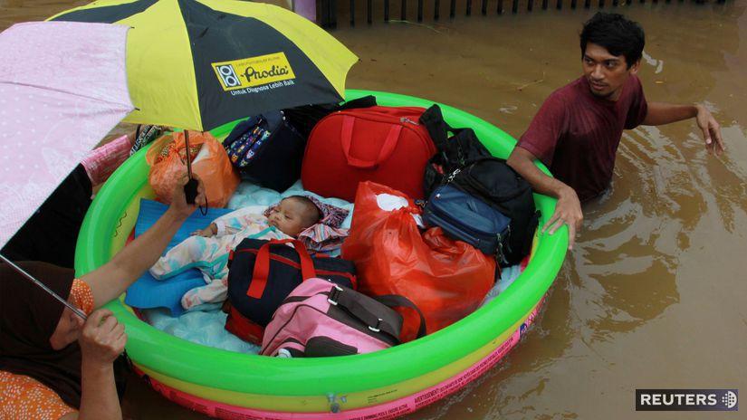 jakarta záplavy indonézia