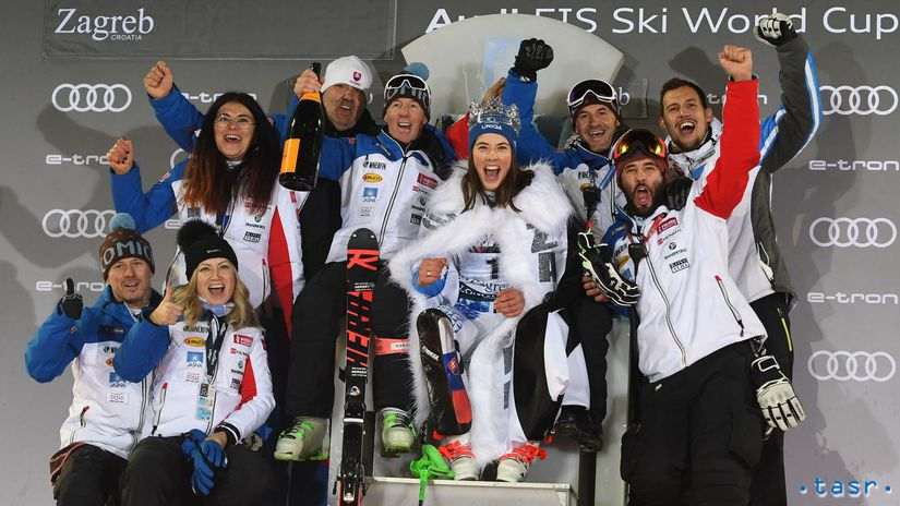 Chorvátsko Záhreb SR lyžovanie SP slalom 2. kolo