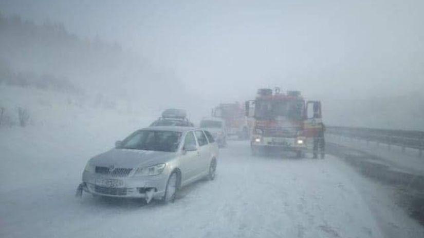 dopravná nehoda hromadná severná D1 diaľnica...