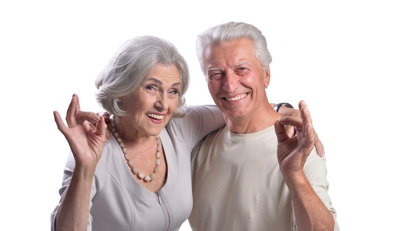 manželia, seniori, dôchodcovia, OK