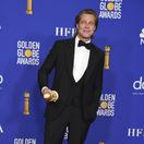 Herec Brad Pitt na vyhlásení cien Zlatý glóbus v Los Angeles.