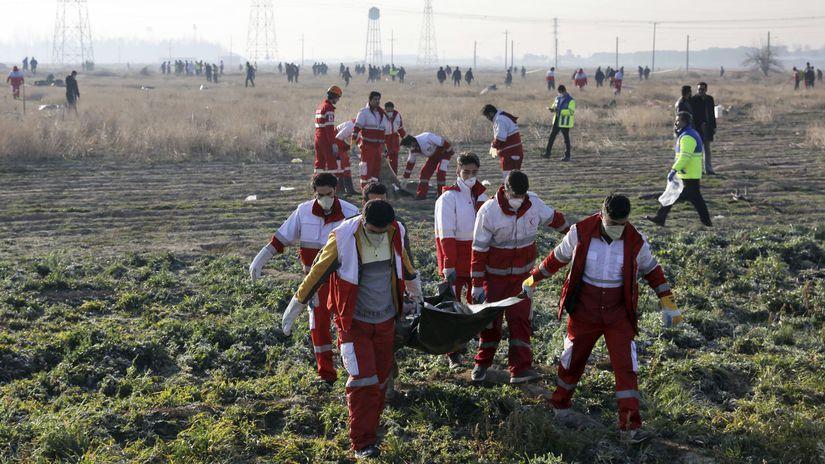 Irán, havária ukrajinského lietadla