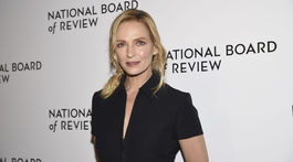 Na vyhlásenie cien v New Yorku dorazila aj herečka Uma Thurman.