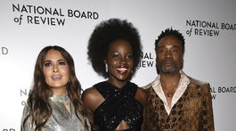 Zľava: Herečky Salma Hayek, Lupita Nyong'o a herec Billy Porter.
