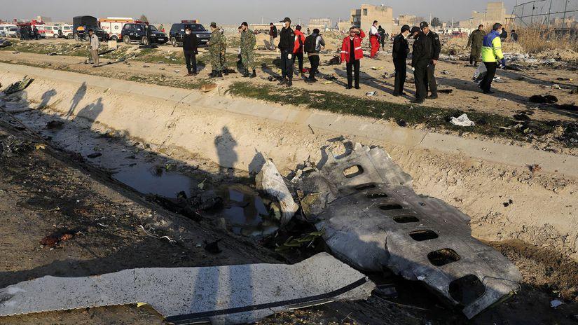Irán Ukrajina lietadlo havária
