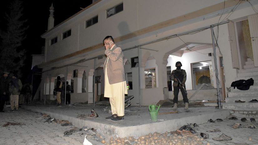 Pakistan bomba útok explózia mešita