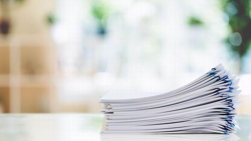 papiere, hromada papierov