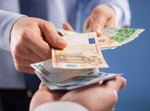 výplata, dávanie, peniaze, euro, bankovky