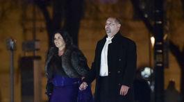 Operný spevák Martin Malachovský prichádza s manželkou, moderátorkou Ivetou Malachovskou.