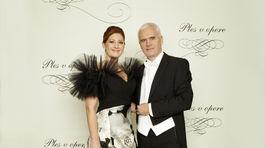 Andrea Cocherová, riaditeľka dobročinného Plesu v opere s manželom Ivanom Golianom.