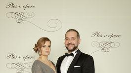 Herec Martin Mňahončák a jeho manželka Katarína.