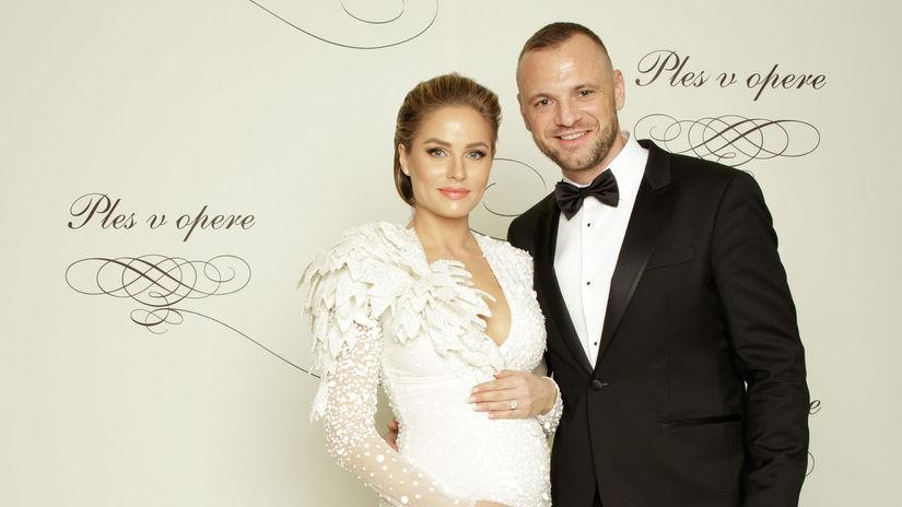 Hokejista Marián Gáborík a jeho manželka Ivana...