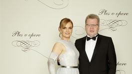 Hudobný producent Juraj Čurný a jeho manželka Andrea.