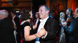 Pavol Lančarič s manželkou Silviou na tanečnom parkete.