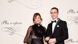 Peter Korčok, prezident Slovenského atletického zväzu s manželkou