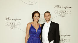 Podpredseda Národnej rady SR Martin Klus s partnerkou Ivanou Zvadovou.
