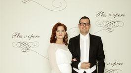 Redaktorka a moderátorka Andrea Šprochová s manželom Štefanom.