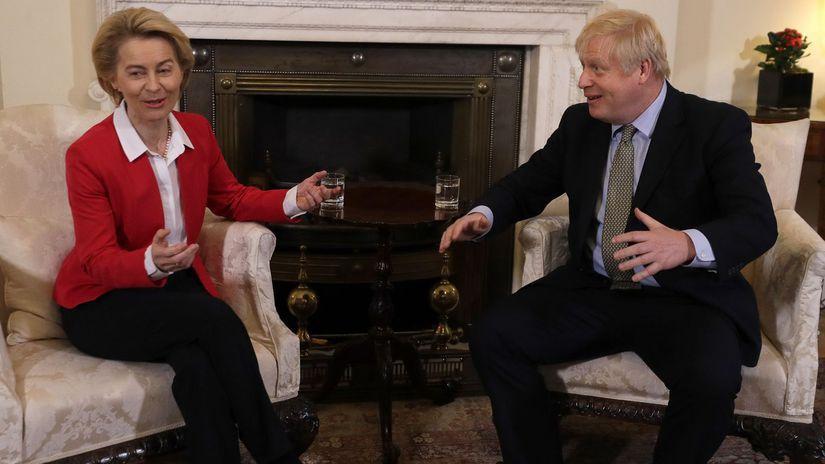 von der Leyenová, Boris Johnson