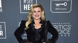 Speváčka a moderátorka Kelly Clarkson prišla v šatách Alessandra Rich.