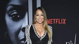 Speváčka Mariah Carey na premiére filmu Tylera Perryho A Fall from Grace.