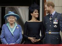 kráľovná alžbeta harry meghan
