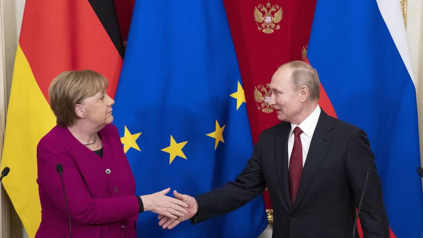 Rusko, Nemecko, Angela Merkelová, Vladimir Putin