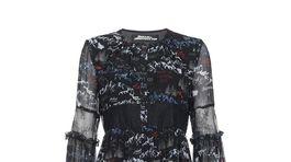 Dámske vzorované šaty Pinko. Zlacnené o päťdesiat percent z pôvodnej ceny na cenu 205 eur.