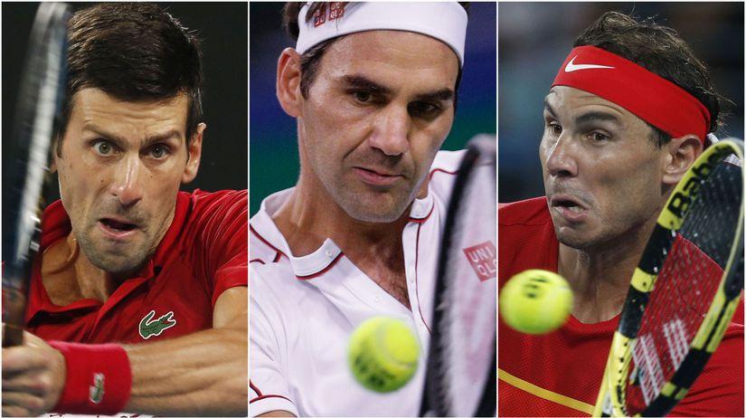 Novak Djokovič, Roger Federer, Rafael Nadal
