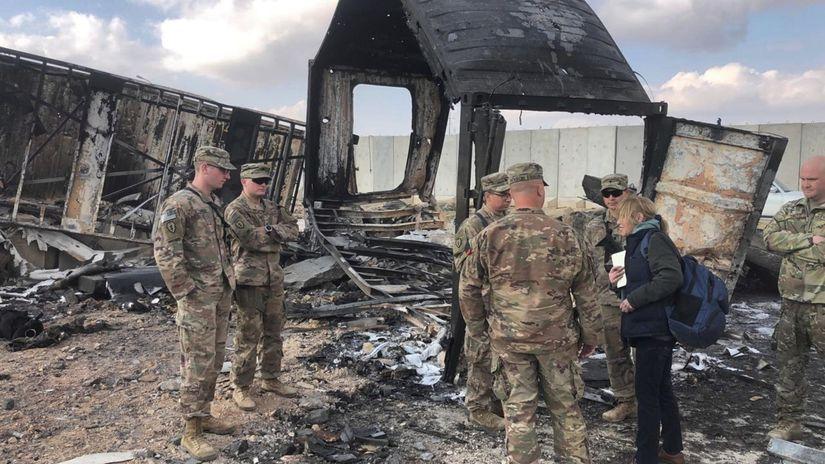irak útok vojenská základňa USA armáda anbár