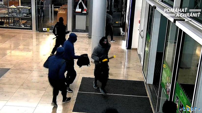 polícia pátranie páchatelia eurovea lúpež