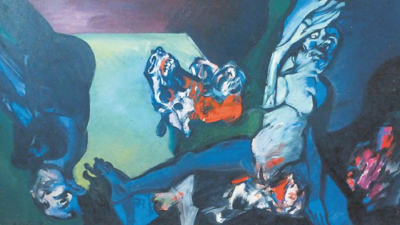 Vincent Hložník: Obetný stôl ženy, 1990