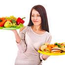 žena, tanier, taniere, zdravá strava