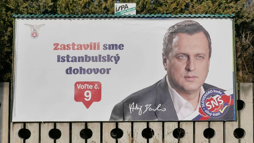 bilbord, billboard, volby 2020, SNS