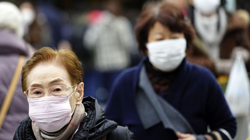 čína vírus rúško japonsko