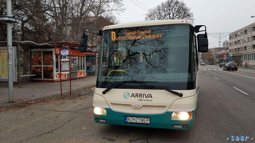 Komárno MHD doprava zdarma autobus