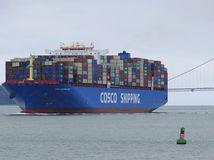 Nákladná loď / kontajner / loď /