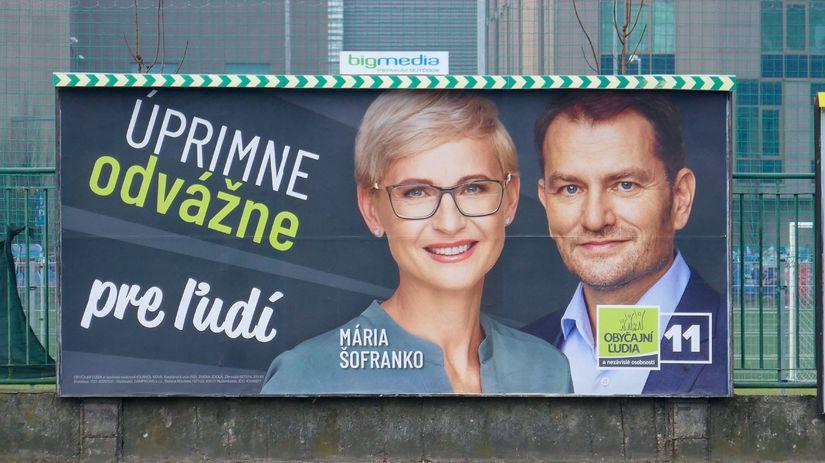 volby 2020, OLANO, Matovic, Sofranko, bilbord