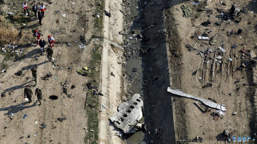 Irán Ukrajina lietadlo fragmenty Ukrajinci...